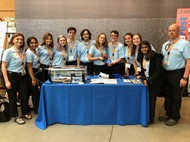 EHS Invent Team with prototype at MIT