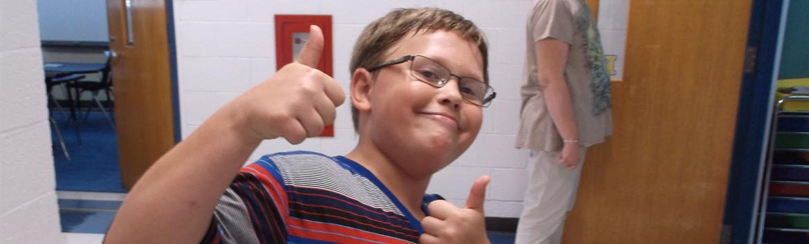 Thumbs up to a great first day of school.