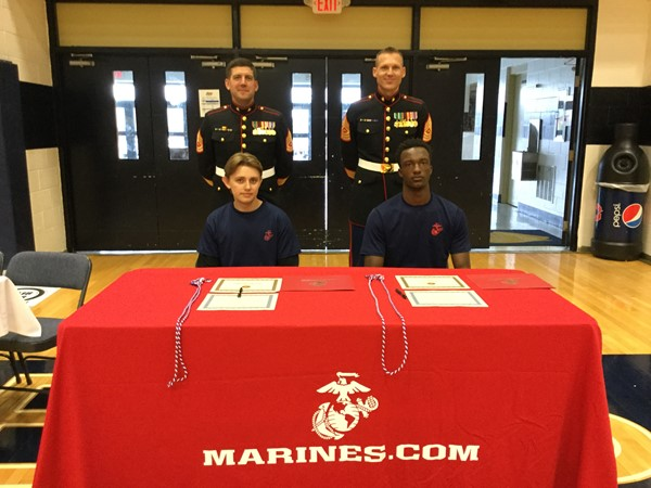 US Marines looking proud.