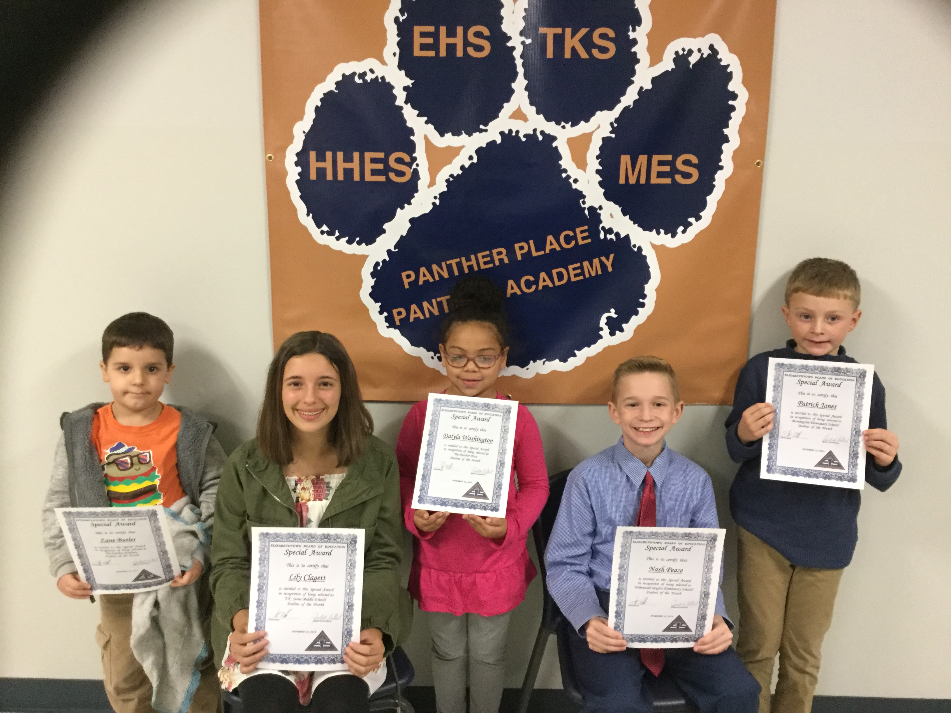 Students of the Month of November