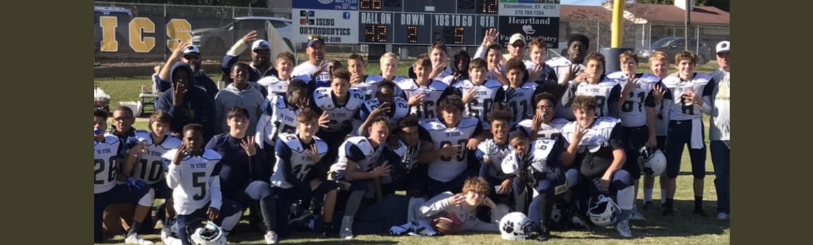 TK Stone 8th grade football Region Champs!
