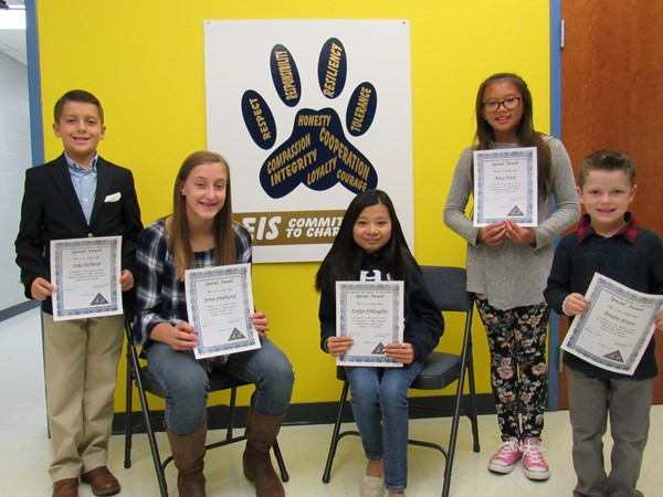 Students of the Month for September.