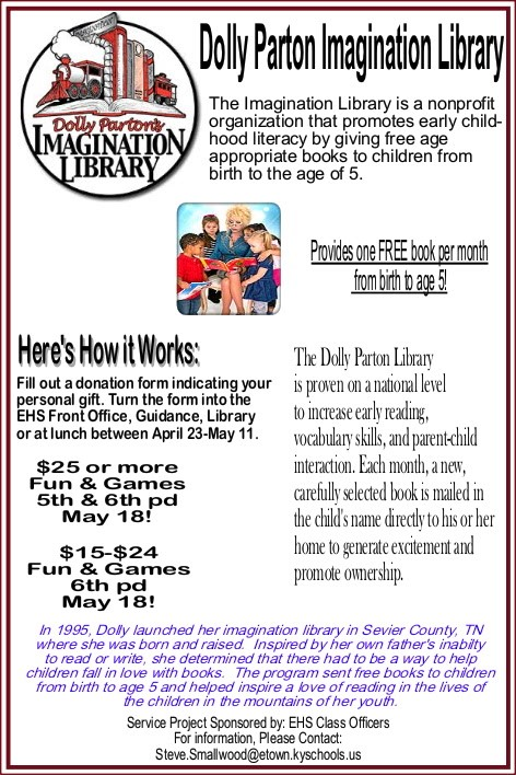 Dolly Parton's Imagination Library Service Project